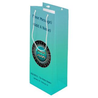 Das Das Horoskop-Symbol der Wasser-Träger Geschenktüte Für Weinflaschen