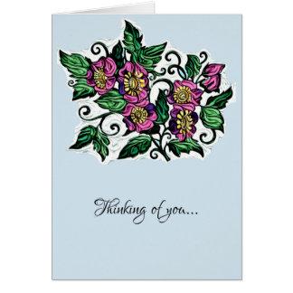 Das Denken an Sie Blumenkunst kardieren freien Karte