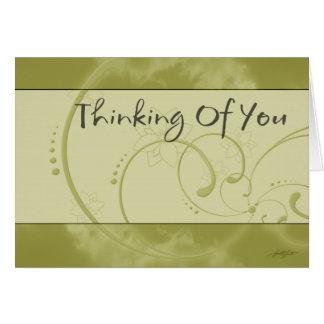 Das Denken an Sie (gelb) kardieren Grußkarte