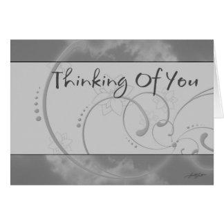 Das Denken an Sie (Grau) kardieren Grußkarte