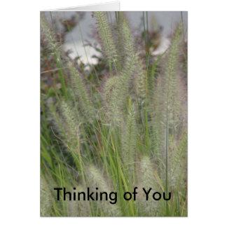 Das Denken an Sie kardieren Karte