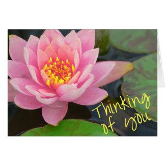 Das Denken an Sie kardieren - Wasserlilie Grußkarte