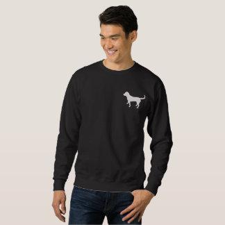 Das dunkle Sweatshirt der Männer mit schwarzer