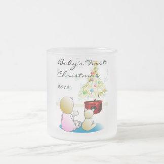 Das erste Weihnachten 2012 des Babys Matte Glastasse