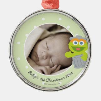 Das erste Weihnachten Babys Oscars   - addieren Silbernes Ornament