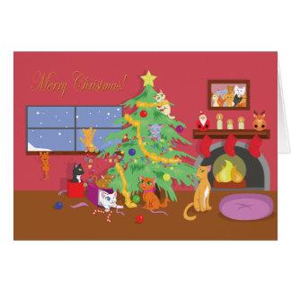 Das erste Weihnachten der Kätzchen Karte