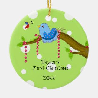 Das erste Weihnachten des Tupfen-Babys Keramik Ornament