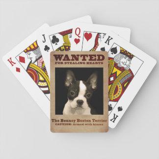 Das federnd Boston Terrier Spielkarten