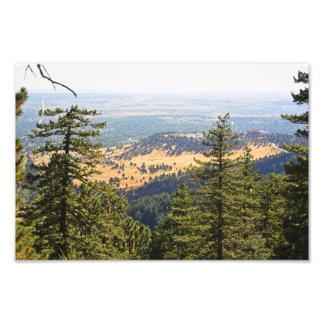 Das Flatirons, das unten auf Boulder schaut Kunstfotos