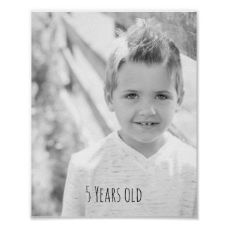 Das Foto der Kinder mit Alter Poster