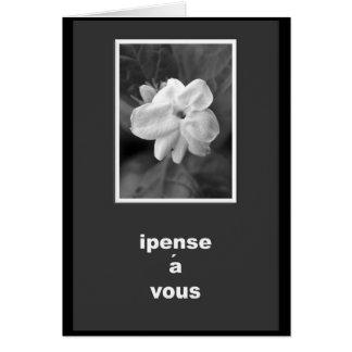 Das französische Denken an Sie kardieren Grußkarte