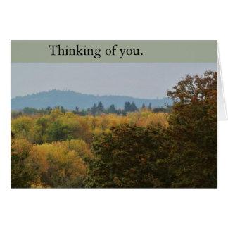 Das friedliche Denken an Sie (leer) kardieren Grußkarte