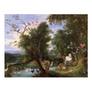 Das Garten Eden, 1659 Postkarte
