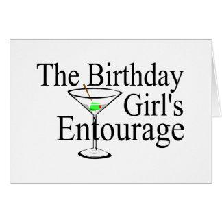 Das Geburtstags-Mädchen-Gefolge Grußkarte