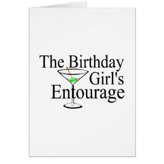 Das Geburtstags-Mädchen-Gefolge Karte