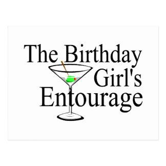 Das Geburtstags-Mädchen-Gefolge Postkarten
