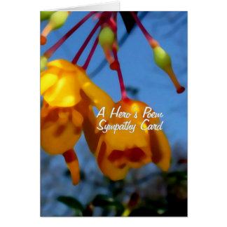 Das Gedicht eines Heldes, Beileidskarte Karte