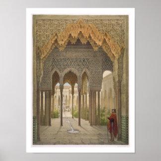 Das Gericht der Löwen, das Alhambra, Granada, 185 Poster