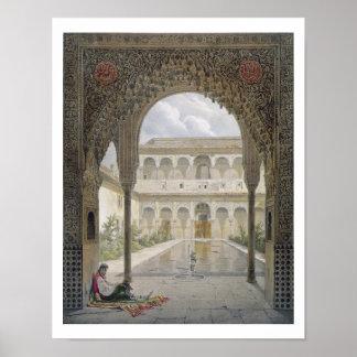 Das Gericht des Alberca im Alhambra, Granada, Poster