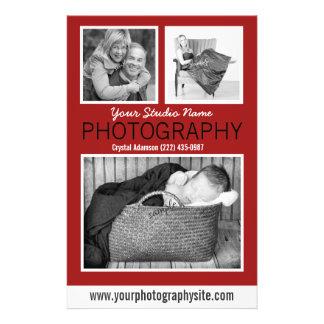 Das Geschäfts-Mitteilungsblatt des Fotografen mit 14 X 21,6 Cm Flyer