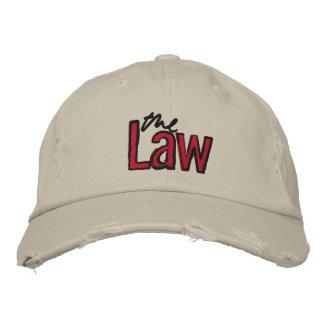 Das Gesetz - gestickt - Hut (beige) Besticktes Baseballcap