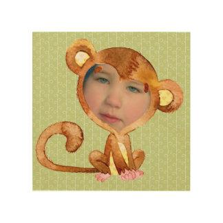 Das Gesicht Ihr Kindes in einem Affe-Anzug Holzdruck