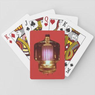 Das Glühen übertragen Vakuumröhre Spielkarten