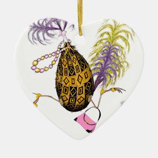 Das Golddiamant-tolle Ei, tony fernandes Keramik Herz-Ornament
