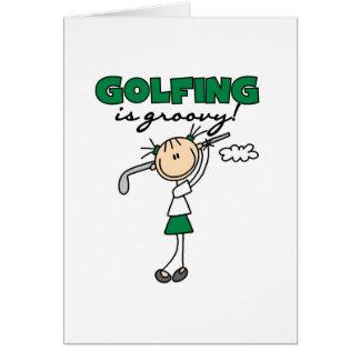 Das Golf spielen ist stark Karte