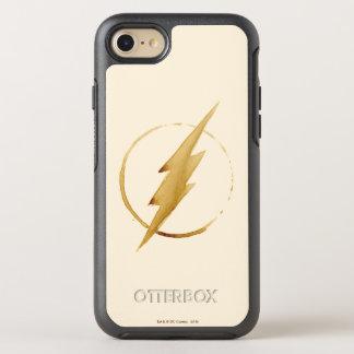 Das grelle | gelbe Kasten-Emblem OtterBox Symmetry iPhone 8/7 Hülle