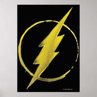 Das grelle | gelbe Kasten-Emblem Poster
