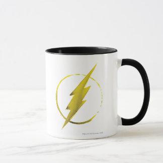 Das grelle | gelbe Kasten-Emblem Tasse