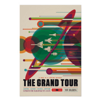 Das großartiger Ausflug-Raumfahrt-Plakat Poster