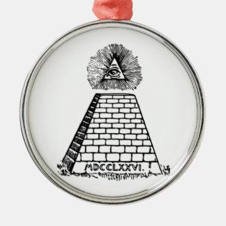 Das große Siegel der Vereinigten Staaten Rundes Silberfarbenes Ornament