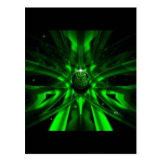 Das grüne alien postkarte