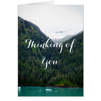 Das grüne Denken an Sie kardieren Grußkarte
