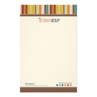 Das Handwerker-Gruppen-Wohltätigkeit-Briefpapier Briefpapier