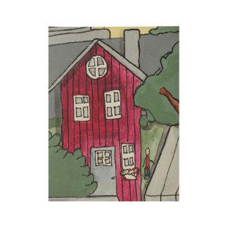 Das Haus, dass Jack Plakat-Druck errichtete Holzposter