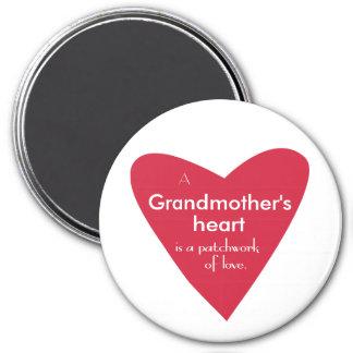Das Herz einer Großmutter Runder Magnet 7,6 Cm