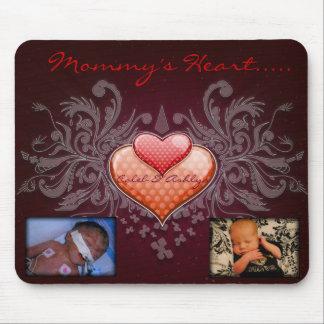 Das Herz Mousepad der Mama