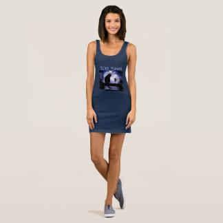Das Jersey-Behälter-Kleid der blauer Mond-Frauen Ärmelloses Kleid