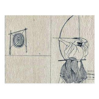 Das Joruri und das Kabuki spielen durch Katsukawa, Postkarte