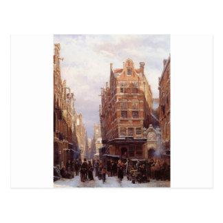 Das jüdische Viertel in Springer Amsterdams Postkarte