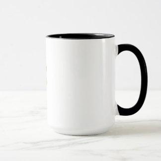 Das Koffein-Molekül-Schwarze 15 Unze-Wecker-Tasse Tasse