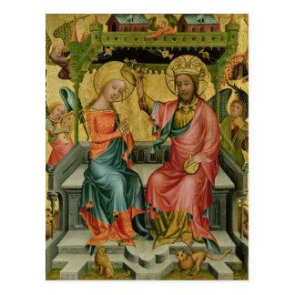 Das Krönen der Jungfrau, vom rechten Flügel Postkarte