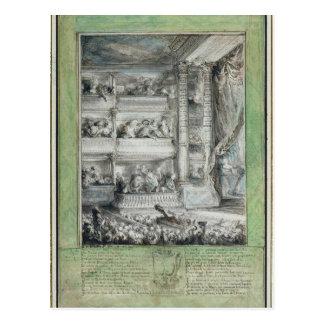 Das Krönen von Voltaire am Theater Francais Postkarte