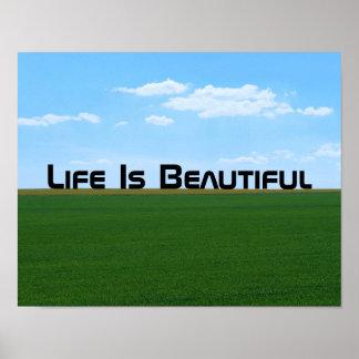 """""""Das Leben ist die schöne"""" kundengerechte Poster"""