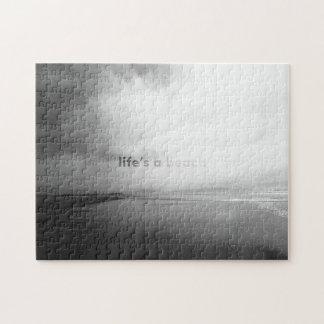 Das Leben ist ein Strand - typografisches Foto Puzzle