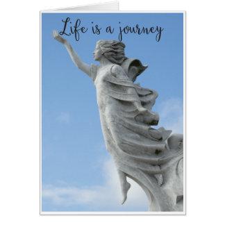Das Leben ist eine Reise Karte