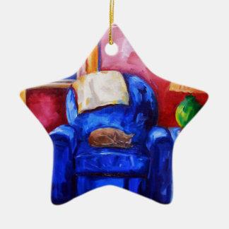 Das Leben ist eine Schüssel Kirschen und Keramik Stern-Ornament